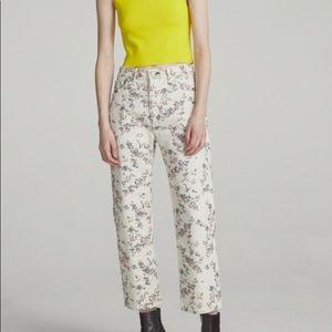 Rag & Bone Women Printed Floral Boy Crop Jeans 25